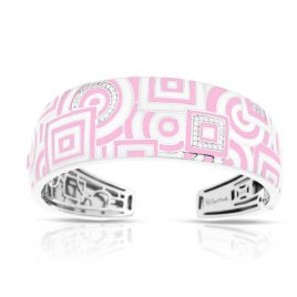 Belle Etoile Geometrica Bangle, Italian Enamel, Silver, medium